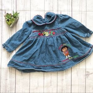 Nick Jr. Dora Embroidered Jean Dress
